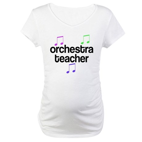 Colorful Orchestra Teacher Maternity T-Shirt