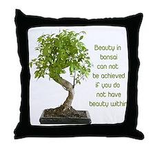Bonsai Beauty Throw Pillow