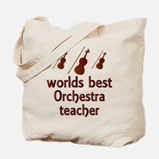 Worlds Best Orchestra Teacher Tote Bag