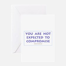 You are not expected to compr Greeting Card
