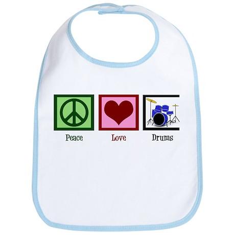 Peace Love Drums Bib