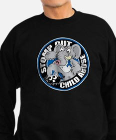 Stomp Out Child Abuse Sweatshirt (dark)