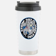 Stomp Out Child Abuse Stainless Steel Travel Mug