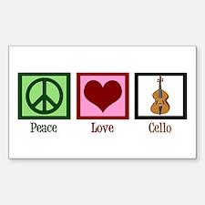 Peace Love Cello Decal
