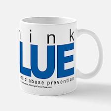 Child Abuse Think Blue Mug