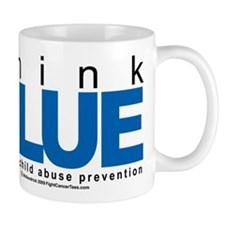 Child Abuse Think Blue Mug