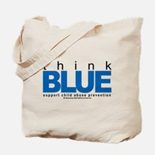 Child Abuse Think Blue Tote Bag