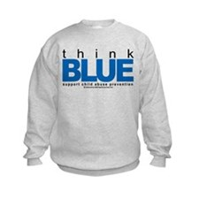 Child Abuse Think Blue Sweatshirt