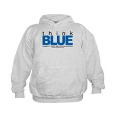 Child Abuse Think Blue Hoodie