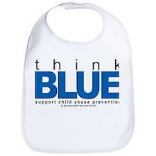 Child Abuse Think Blue Bib