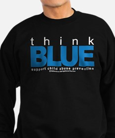 Child Abuse Think Blue Sweatshirt