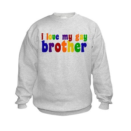 I Love My Gay Brother Kids Sweatshirt