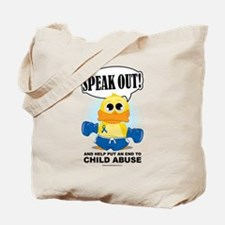 Boxing Duck Child Abuse Tote Bag