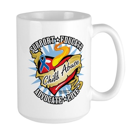 Child Abuse Classic Heart Large Mug