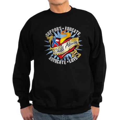 Child Abuse Classic Heart Sweatshirt (dark)