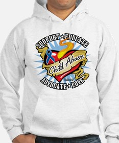 Child Abuse Classic Heart Hoodie
