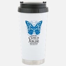 Child Abuse Butterfly Stainless Steel Travel Mug