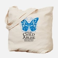 Child Abuse Butterfly Tote Bag
