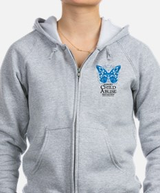 Child Abuse Butterfly Zip Hoodie