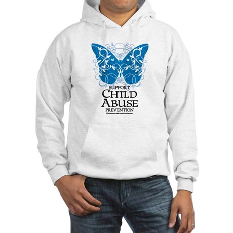 Child Abuse Butterfly Hooded Sweatshirt