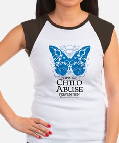 Child Abuse Butterfly Women's Cap Sleeve T-Shirt