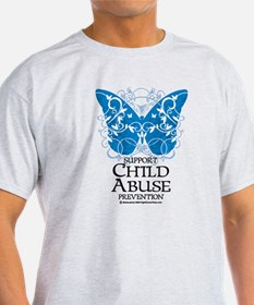 Child Abuse Butterfly T-Shirt