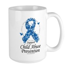 Child Abuse Ribbon Of Butterf Mug