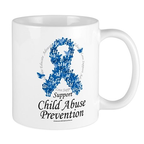 Child Abuse Ribbon Of Butterf Mug