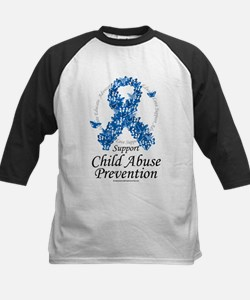 Child Abuse Ribbon Of Butterf Tee