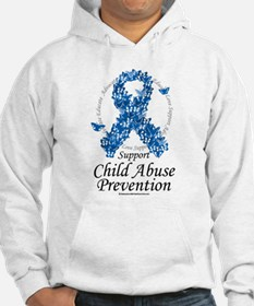 Child Abuse Ribbon Of Butterf Hoodie