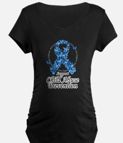 Child Abuse Ribbon Of Butterf T-Shirt