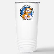 Child Abuse Prevention Cat Travel Mug