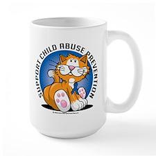 Child Abuse Prevention Cat Mug