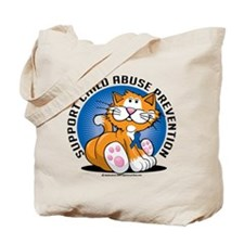 Child Abuse Prevention Cat Tote Bag