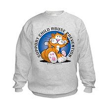 Child Abuse Prevention Cat Sweatshirt