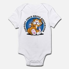 Child Abuse Prevention Cat Infant Bodysuit