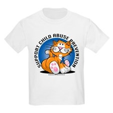 Child Abuse Prevention Cat T-Shirt
