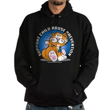 Child Abuse Prevention Cat Hoodie