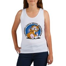 Child Abuse Prevention Cat Women's Tank Top