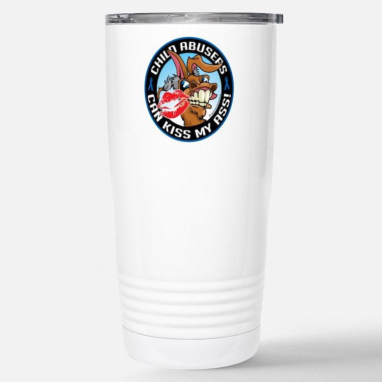 Child Abuse Can Kiss My Ass Travel Mug