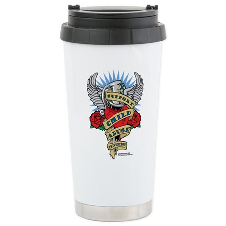 Child Abuse Dagger Stainless Steel Travel Mug