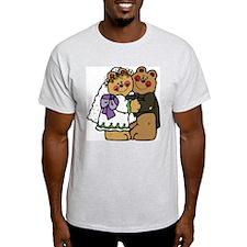Bear Bride & Bear Groom Ash Grey T-Shirt