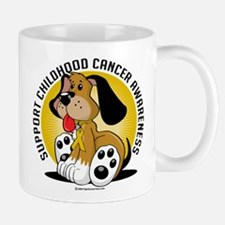 Childhood Cancer Dog Mug