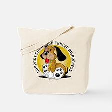 Childhood Cancer Dog Tote Bag