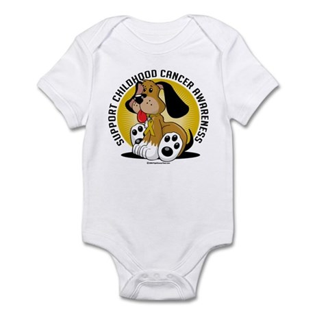 Childhood Cancer Dog Infant Bodysuit