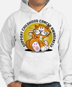 Childhood Cancer Cat Hoodie