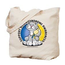 Paws For Down Syndrome Cat Tote Bag