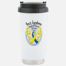 Down Syndrome Butterfly 3 Travel Mug