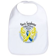 Down Syndrome Butterfly 3 Bib