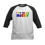 I Love My Gay Mother Kids Baseball Jersey